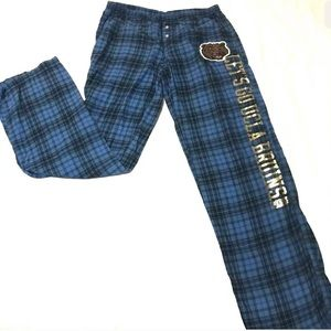 Victoria's Secret Pink plaid UCLA bruins pants M
